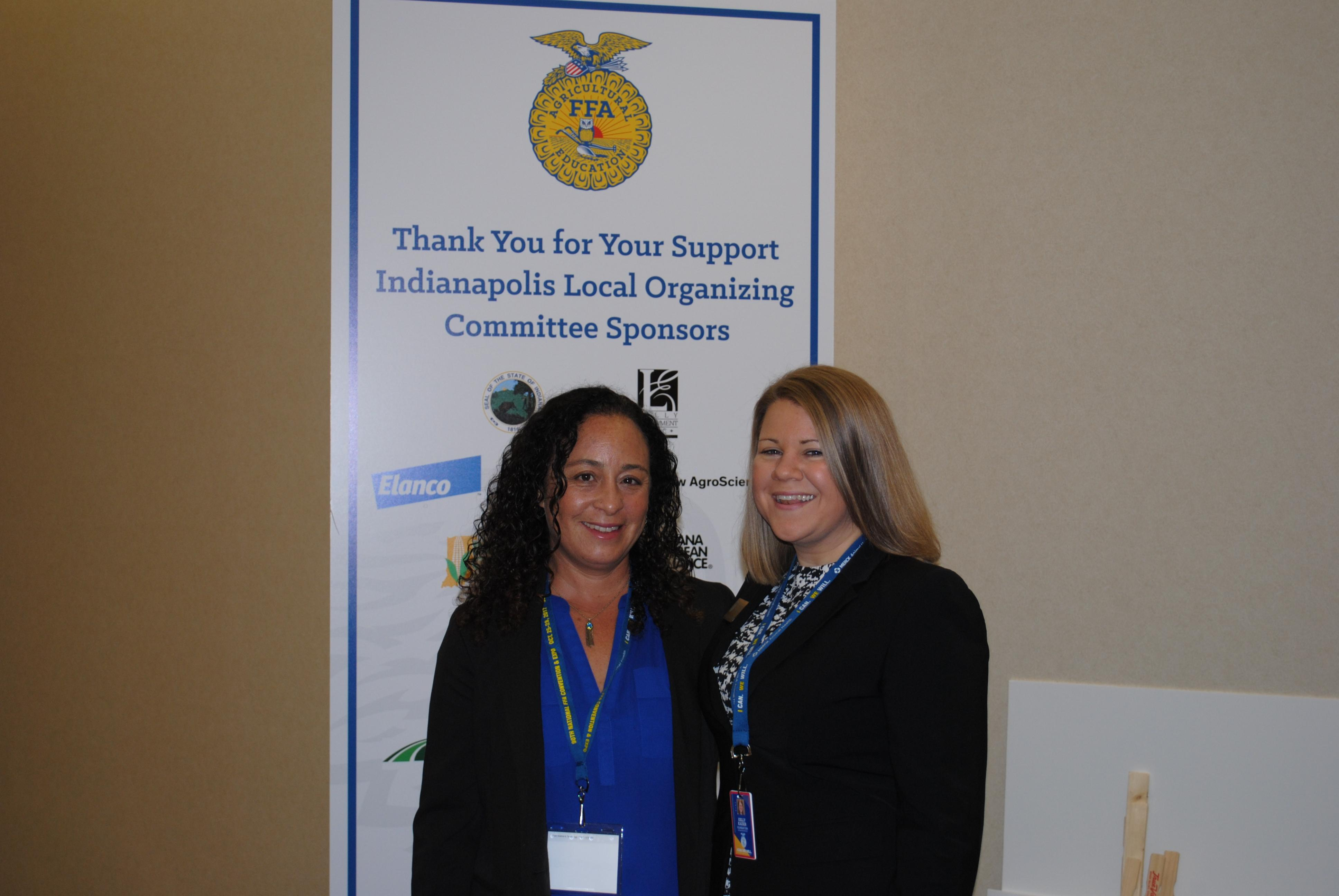 Kelly Kaiser, Associate Regional Director for the National FFA Foundation and Josaphine Stevenson, Program Specialist for the CCOF Foundation